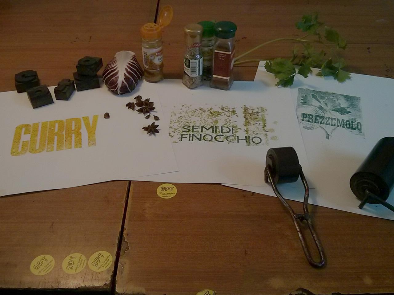 Q.B. – Workshop di stampa tipografica sinestetica ovvero come stampare un fast book dai sapori intensi